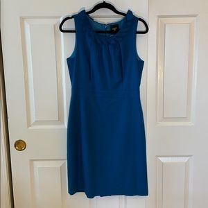 JCrew wool suiting dress with ruffle accents